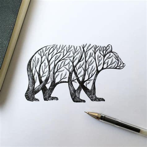 alfred basha illustration bear drawing drawing tattoos