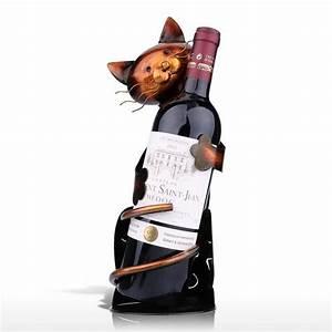 Porte Bouteille Vin : porte bouteille de vin chat univers chat ~ Melissatoandfro.com Idées de Décoration