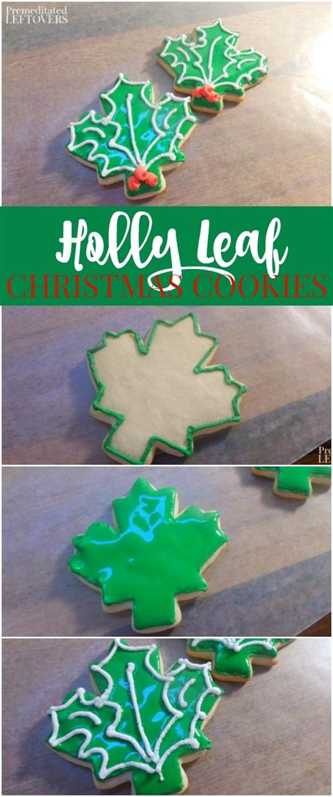 holly leaf sugar cookies  maple leaf
