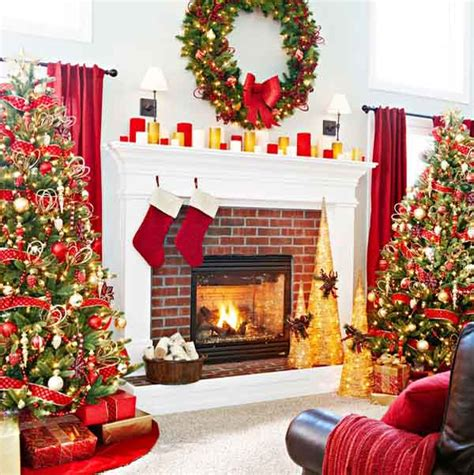 50 most beautiful fireplace decorating ideas celebration all about - Fireplace Christmas Lights