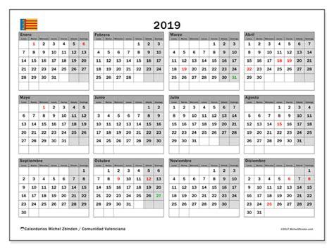 calendario comunidad valenciana espana michel zbinden es