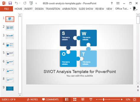 swot powerpoint templates