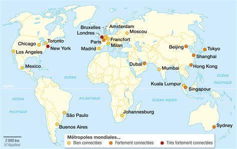 Carte Du Monde Villes Mondiales by L Archipel Des M 233 Tropoles Mondiales