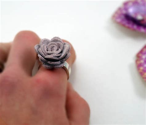 sizzix leather rose ring tutorial