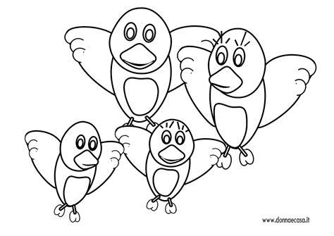 disegni semplici da fare con gli acquerelli disegno semplice di una famiglia di uccellini
