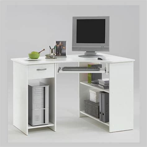Small White Corner Desk Uk by Small Corner Desk For Small Space Homefurniture Org