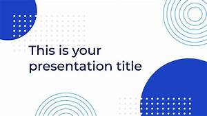 Blue Circle Powerpoint Template Free Download Now