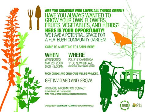 community garden flyer community garden kickoff meeting