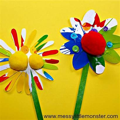 Flower Craft Rainbow Crafts Spring Painting Spin