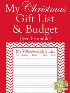christmas gift list and budget printable women and money inc