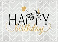 Happy Birthday mit Fahrrad Geburtstagskarten Echte