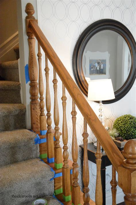oak banisters how to stain an oak banister the idea room