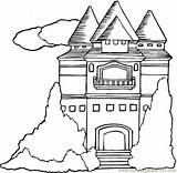 Mansion Coloring Pages Houses Printable Template Drawings Clipart sketch template
