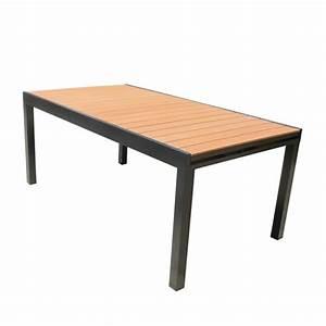 Table De Jardin Extensible Aluminium : table de jardin composite achat vente pas cher ~ Melissatoandfro.com Idées de Décoration