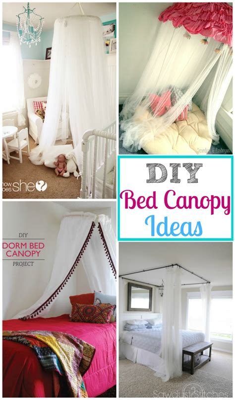 bed canopy diy a diy bed canopy round up design dazzle
