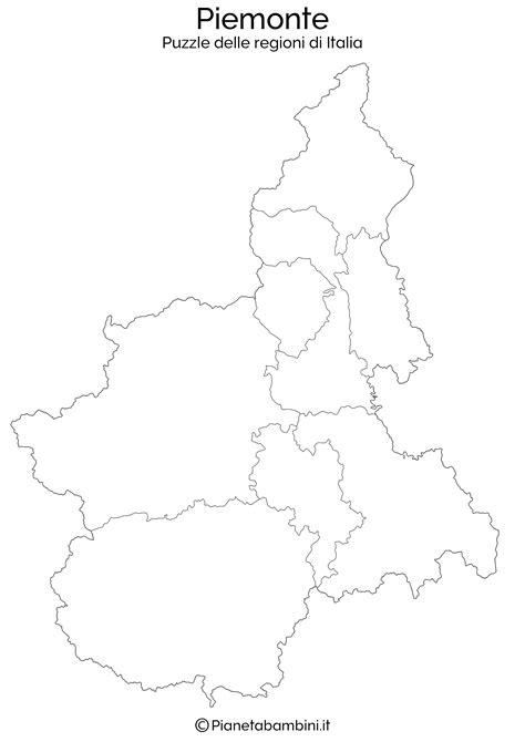 Puzzle delle Regioni d'Italia da Stampare | PianetaBambini.it