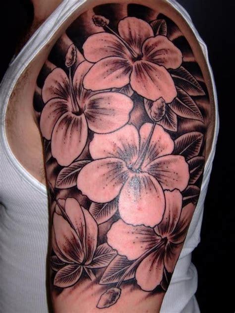 black  white flower tattoos