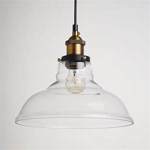 Industrial edison vintage style light pendant lamp glass