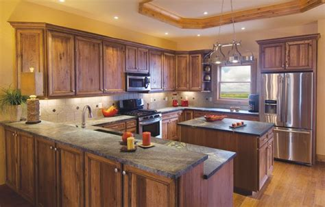 hickory kitchen island 1000 ideas about rustic hickory cabinets on