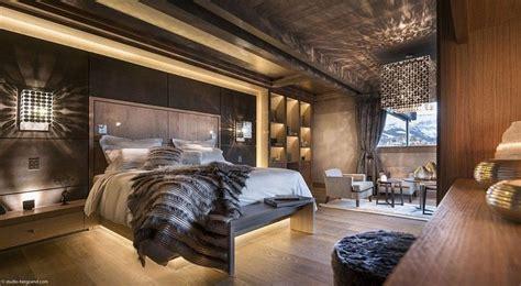 chambre parentale cosy déco chambre chalet luxe
