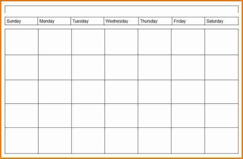 4 Week Schedule Template by 4 Weekly Calendar Printable 2017 Calendars