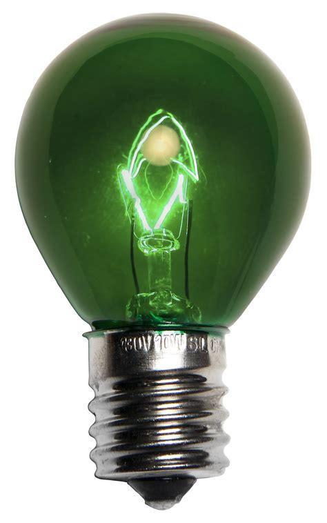 patio  party light bulbs  transparent green
