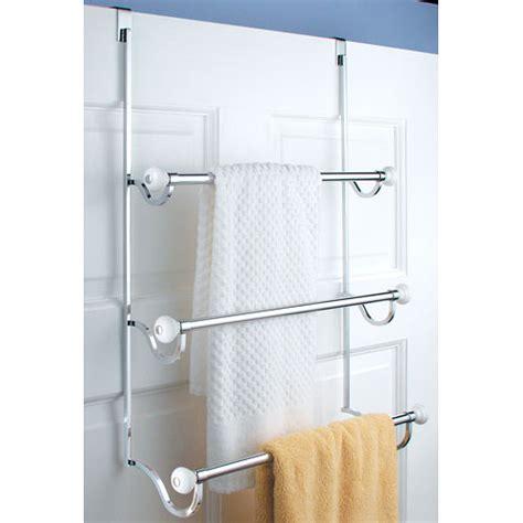 lifestyle home the door bath organizer york door three tier towel rack in the door