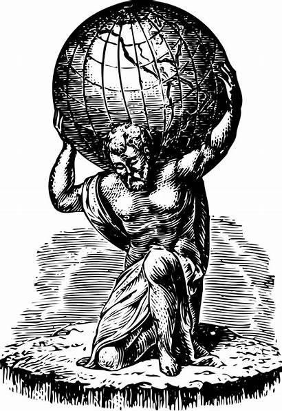 Atlas Greek Mythology Titan Retro Demigod Hercules