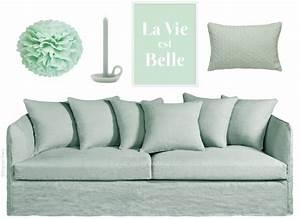 Coussin Vert Menthe : o trouver de la d co vert menthe joli place ~ Teatrodelosmanantiales.com Idées de Décoration