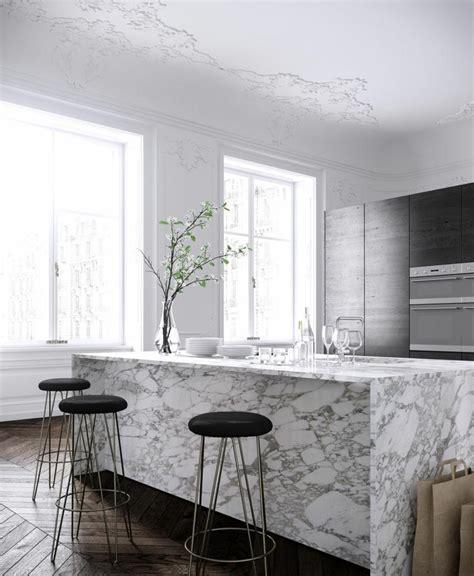 plan de travail en marbre pour cuisine plan de travail marbre sublimer sa cuisine avec un