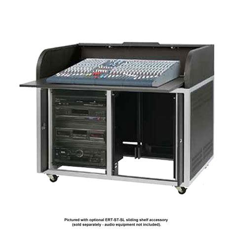 roll top desk for sound mixing boards chief raxxess steel elite roll top desk black ert st