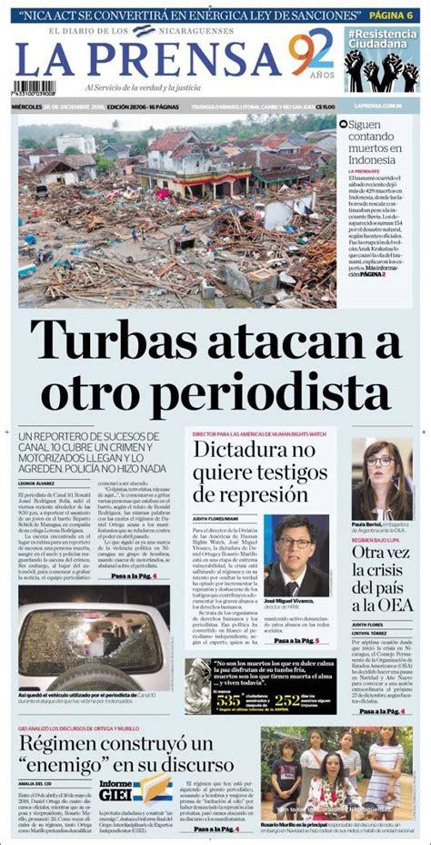Portada Miércoles 26 de Diciembre-La Prensa (Nicaragua ...