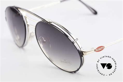 Kostenlose lieferung für viele artikel! Sunglasses Bugatti 65536 Vintage Glasses with Sun Clip | Vintage Sunglasses