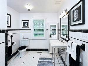 black and white tile bathroom decorating ideas pictures With black and white bathroom tile design ideas
