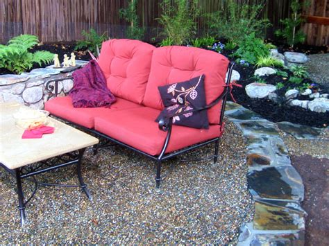 how to build a bordered gravel patio how tos diy