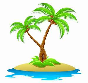 Island with Palm Trees Transparent Clipart | Trees , Tree ...