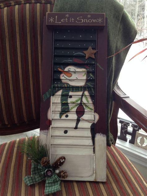 snowman  shutter diy christmas door easy christmas