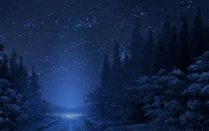 Night Winter Background Cool Wallpapers Nature