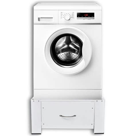 washing machine pedestal vidaxl co uk washing machine pedestal with drawer white