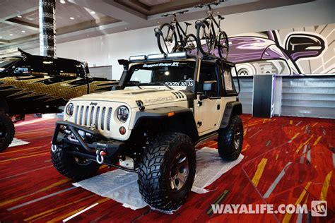 tan jeep wrangler 2 door 2013 sema rugged ridge tan jeep jk wrangler 2 door