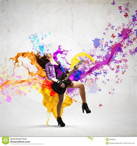 Rock Passionate Girl Stock Image Image 33386241
