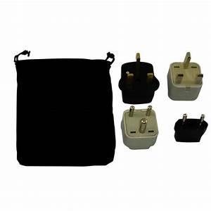Zimbabwe Power Plug Adapters Kit With Travel Carrying