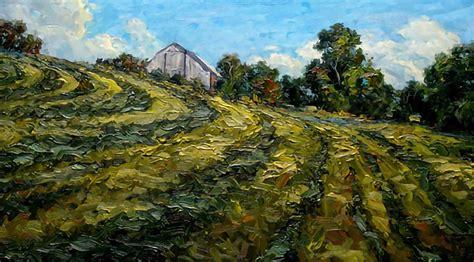 brad teare  woodcuts  plein air landscape paintings