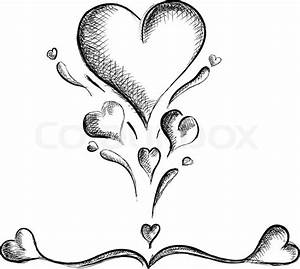 Hearts isolated on the white Stock Vector Colourbox