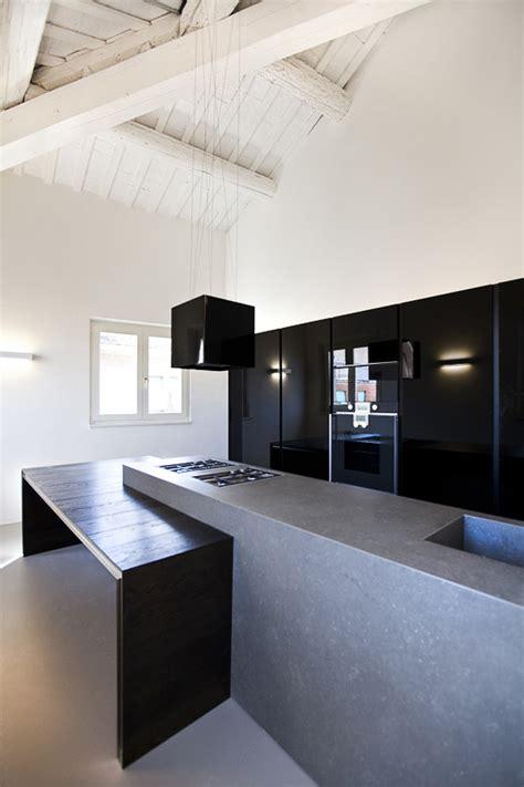 stylish kitchen designs  concrete counter highlights