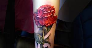 An Intuition rose tattoo by Liz Venom from Bombshell ...