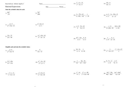 simplifying algebraic expressions worksheets with answers