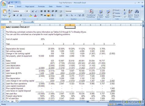Constuction Project Budget Template Excel