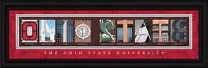 ohio state university officially licensed framed letter With ohio state letter art