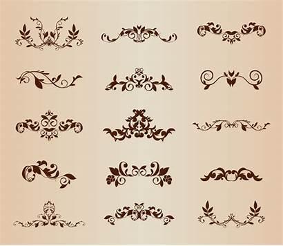 Ornamental Vector Floral Elements Ornament Ornaments Graphic
